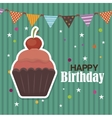 happy birthday cupcake isolated icon design vector image