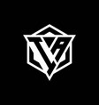 ia logo monogram with triangle and hexagon shape vector image vector image