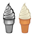 ice cream two style objects or elements vector image vector image