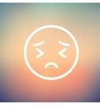 In pain thin line icon vector image