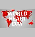 international heart day concept banner cartoon vector image vector image