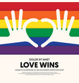 lgbt community poster template background vector image