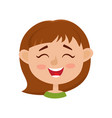 little girl happy face expression isolated on vector image vector image