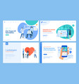 medicine and healthcare web page design templates vector image vector image