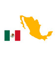 mexico map high detailed map mexico on white vector image vector image