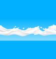 milk splash seamless pattern realistic yoghurt vector image vector image