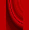 modern red wave abstract vertical background vector image