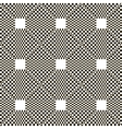 monochrome chequered pattern with squares vector image vector image