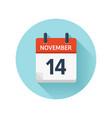 november 14 flat daily calendar icon date vector image vector image