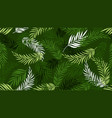 palm leaf pattern green tropical leaves vector image vector image