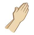 praying hand vector image vector image