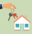 real estate concept in flat style - hand agent vector image