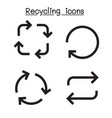 recycle icon set vector image vector image
