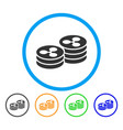 ripple coin columns rounded icon vector image
