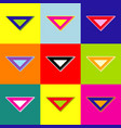 ruler sign pop-art style vector image vector image