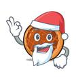 santa baket pie mascot cartoon vector image vector image