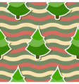 Seamless background with christmas tree vector image