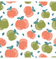 seamless pattern with cute apple vector image