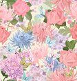 seamless texture with delicate flowers and vector image vector image
