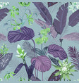 seamless tropical background floral print vector image vector image