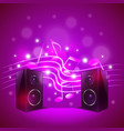 Speakers on colorful blur background vector image vector image