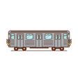 subway train vector image