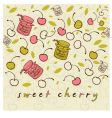 sweet cheery vector image