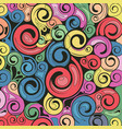 swirl retro art pattern background vector image