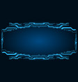 technology futuristic frame virtual panel vector image