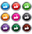 thumb up gesture set 9 collection vector image