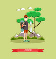 tour guide in flat style vector image
