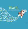 tourism plane vector image