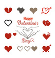 Valentine greeting card with hearts vector image vector image