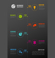 vertical timeline template with icons vector image vector image