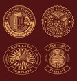 vintage beer emblems bundle vector image vector image