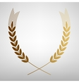 Wheat sign Flat style icon vector image