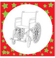 wheelchair with details in the hospital vector image vector image