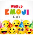 world emoji day smile square banner template vector image