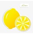 lemon sticker vector image