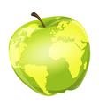 apple globe vector image