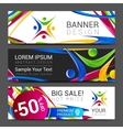 colorful banner made of bright stains logo vector image