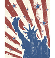 patriotic background with liberty stature vector image