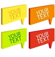 Speech bubbles colorful set vector image