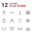 12 party icons vector image vector image