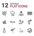 12 season icons vector image vector image