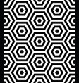 3d seamless pattern with hexagon black shapes vector image vector image