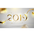 abstract golden 2019 new year background banner vector image