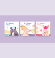 ads template with baby shower design concept vector image vector image