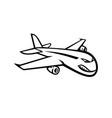 Angry jumbo jet plane flying mascot black and