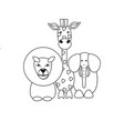 animals in the contour vector image vector image